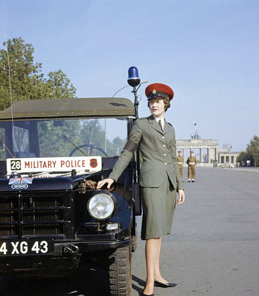 Womens Royal Army Corps-British Sector-West Berlin 1962 Brandenburg Gate.jpg