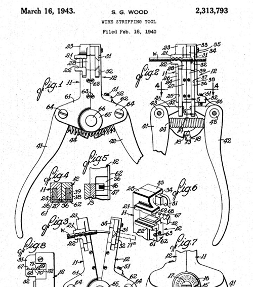 1943 General Cement (S.G. Wood) wire stripper patent.jpg
