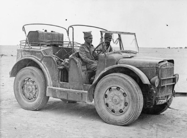 Indian troops driving a captured Italian light artillery tractor %28Spa TL37%29%2C 8 December 1941 %28Small%29.jpg
