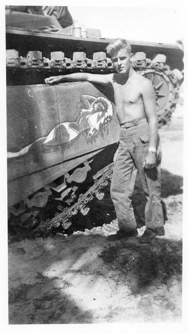 Armor Nose Art on a LVT%28A%29-1 Amtrac%2C Pacific Theater of Operations 1945.jpg